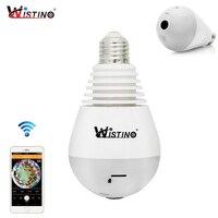 Wistino 960P Wireless VR Panoramic Camera Bulb Wifi IP Camera Light 360 Degree FishEye CCTV Surveillance