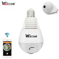 Wistino 960P Wireless VR Panoramic Camera Bulb Wifi IP Camera Light 360 Degree FishEye CCTV Surveillance