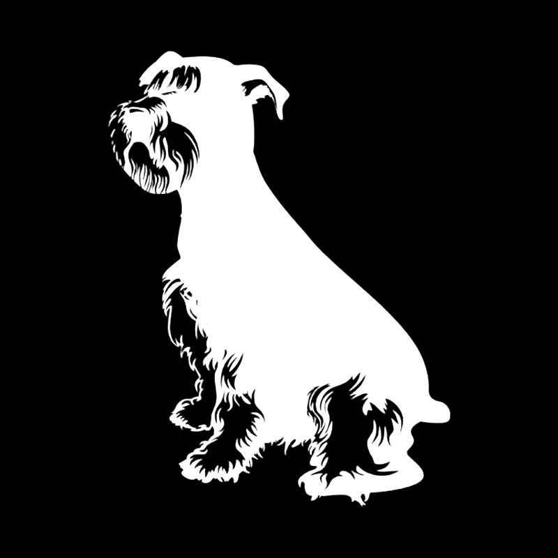 YJZT 10 см * 13 см шнауцер собака художественный Декор виниловые наклейки для автомобиля черный/серебристый C10-00283