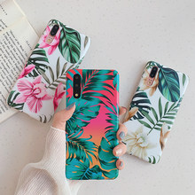 Vintage Flower Banana Leaf Phone Cases For Huawei P20 P30 Pro Lite Mate 20 Lite Soft IMD Flowers Floral Full Body Back Cover(China)