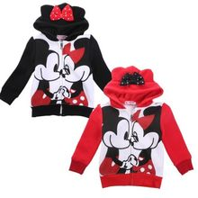Baby Girls Boys Kids Cartoon Tops Hoodies Coat Outfits Mouse Ear Fleece Hoodie Sweatshirt Girl Kid Jacket Clothes Costume