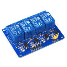 1PCS Free shipping 24V 4 Channel Relay Module Controle Relay 4 way Relay Module for arduino