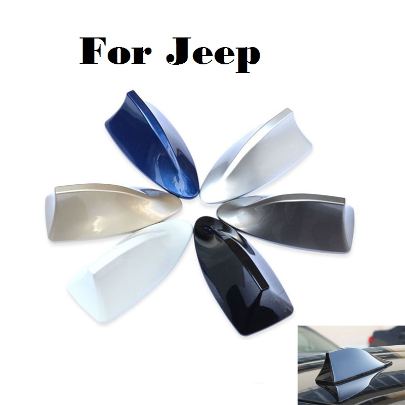 2017 car styling Gray/Blue/Gold/Silver/Black/Red/White Car Antenna Radio Fit For Jeep Li ...