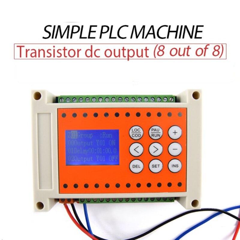 Máquina do Tempo Saída de Relé Fora de 8 Programável Simples Plc 8