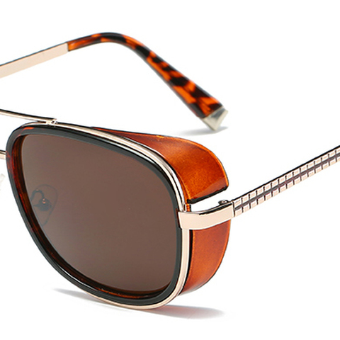 Samjune Iron Man 3 Matsuda TONY stark Sunglasses Men Rossi Coating retro Vintage Designer Sun glasses Oculos Masculino Gafas de Lahore