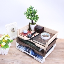 Plastic Desk Organizer Files Letter A4 Paper Superimposed Tray Office Accessories School Supplies