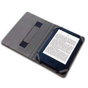Image 2 - טבעי פשתן קייס לקינדל 4 5 6 7 8 מגע כיסוי מגן נרתיק פאוץ מקרה פשתן קנבוס eReader Paperwhite עם יד מחזיק