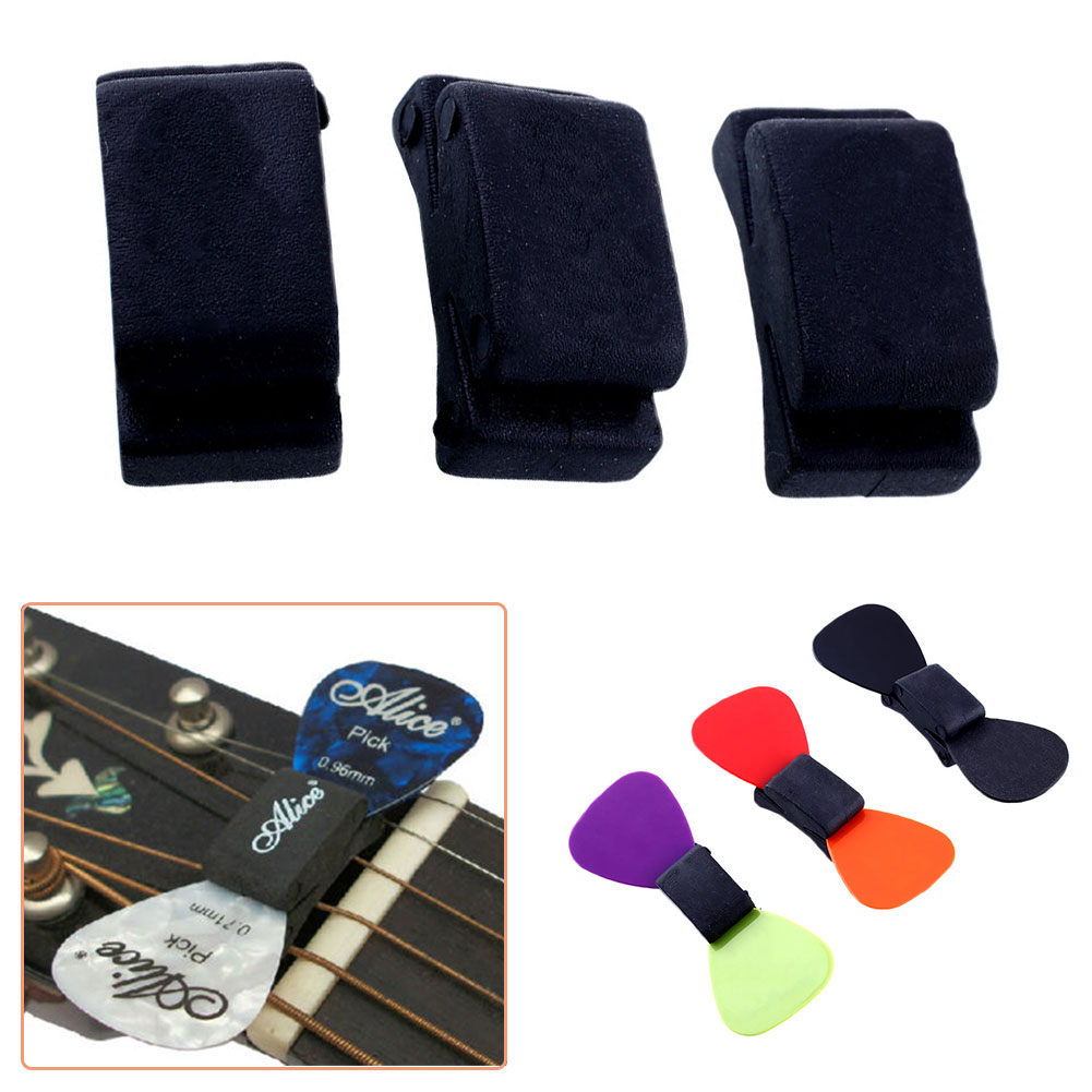 Music-S 2016 Hot Sale Rubber HeadStock Selling Musical Accessories Standard Guitar Pick Holder For Acoustic Guitar ...