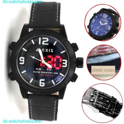 AW802G Alarm BackLight Water Resist Unisex Dual Time Alexis Analog Digital Watch