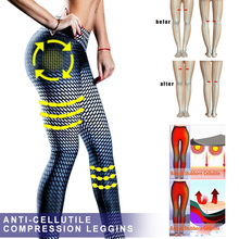 2019 Newly Women Anti-Cellulite Compression Slim Leggings Gym Running Yoga Sport Pants MSD-ING