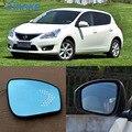 SmRKE для Nissan Tiida  Автомобильное зеркало заднего вида  широкий угол  Hyperbola  синее зеркало со стрелкой  СВЕТОДИОДНЫЕ ПОВОРОТНЫЕ сигнальные огни