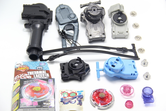 Beyblade Metal Fight Fusion BB74 Thermal Lacerta WA130HF BB-74 Beyblade Power String Launcher & Grip Set