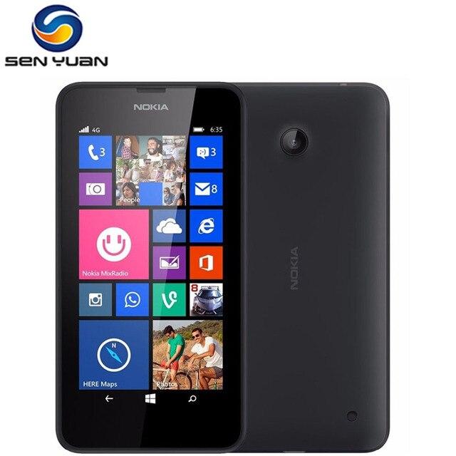 """המקורי נוקיה Lumia 635 Windows טלפון 4.5 """"Quad Core 1.2 GHz 8G ROM 5.0MP WIFI GPS סמארטפון 4G LTE Smartphone"""