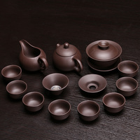 Chinese Dragon Kung Fu Tea Sets Genuine Yixing Purple Clay Teapot Zisha Teacups Pure Manual Tea