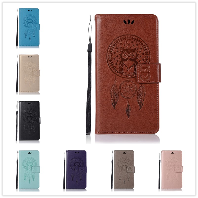 Embossed Wallet Case For Asus Zenfone 2 laser ZE550KL PU leather Owl Flip Cover Case For Asus Zenfone 2 laser ZE550KL Case