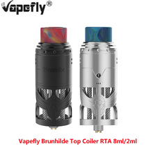 2PCS In stock Vapefly Brunhilde Top Coiler E cigarette Vape Coiler Tank Build Deck side filling design Vape Atomizer VS Zeus X