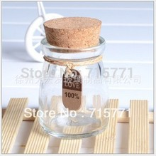 7.3 cm Free shipping glass bottles with cork mini corked drift bottle lucky Storage Bottles