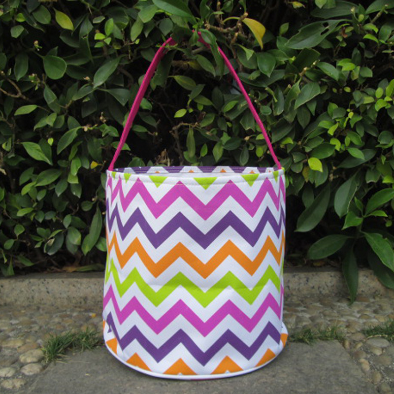 Wholesale chevron easter bucket chevron easter tote bag wholesale chevron easter bucket chevron easter tote bag monogrammable toy chevron easter basket for kids domil 101091 in top handle bags from luggage negle