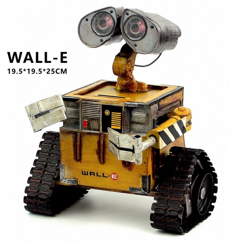 Wall-E רובוט מודל הסרט הקרה התגלגל פלדה מתכת פעולה איור צעצוע בובה רובוט אישי עבודת יד מלאכת יד juguetes פיגורות קיר אלקטרוני