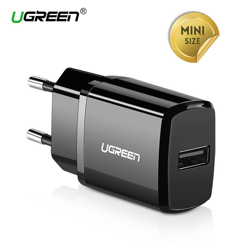 Ugreen 5 В 2.1A USB Зарядное устройство для iPhone X 8 7 iPad быстро стены Зарядное устройство ЕС адаптер для samsung S9 xiao mi 8 мобильный телефон Зарядное устройство