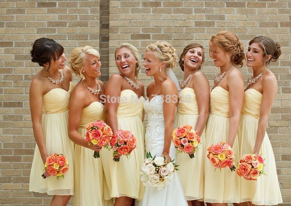 Popular Yellow Bridesmaids Dresses-Buy Cheap Yellow Bridesmaids ...