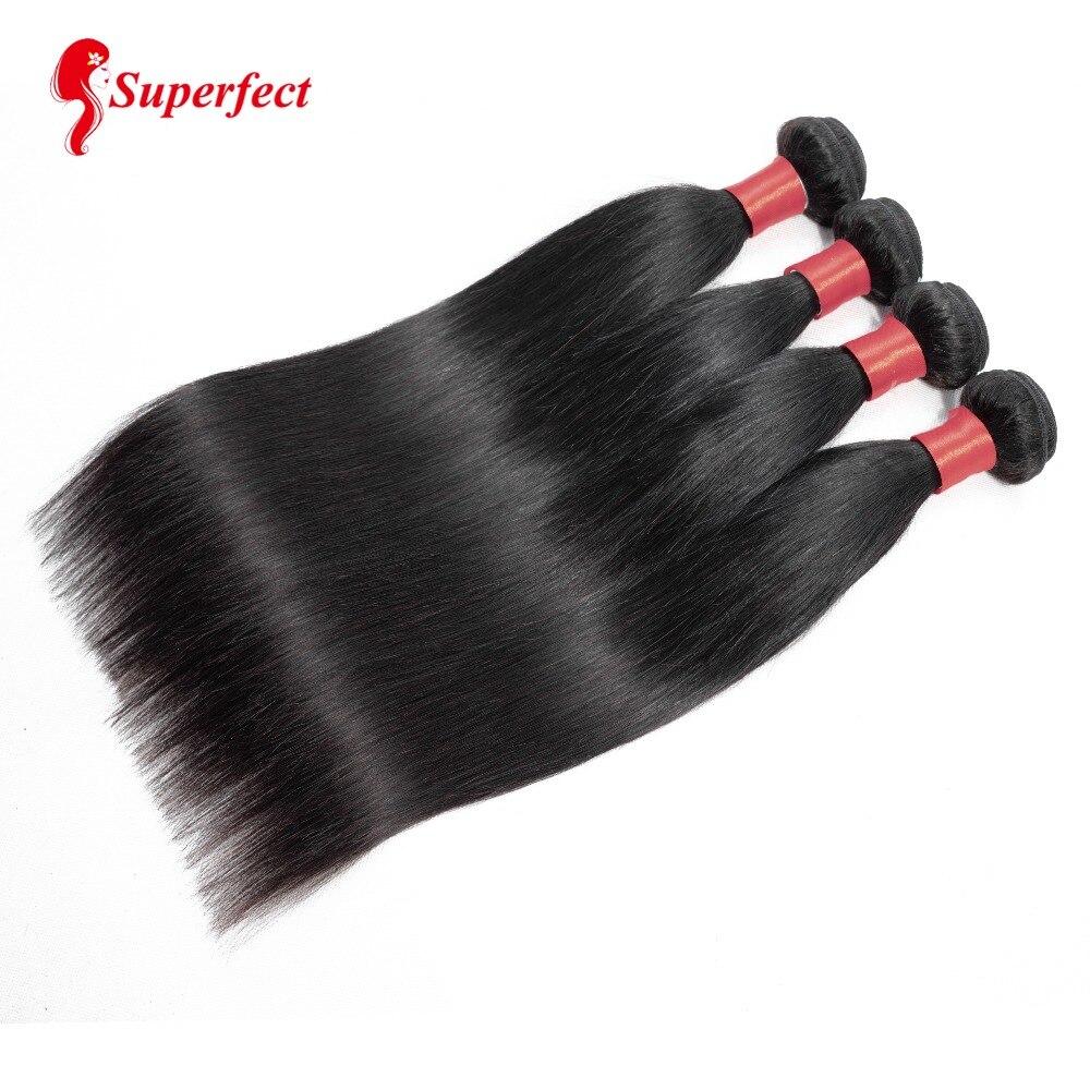 Peruvian Straight Hair Bundles Human Hair Extensions 4 Bundles Deal Non Remy Hair Weave Bundles 10