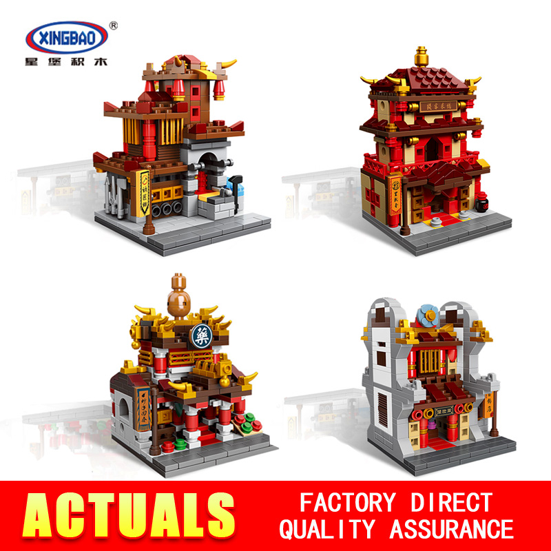 New Xingbao 01101 the creative MOC Chinese architecture Series Children Educational Building Blocks Bricks Toys Model as gifts mini architecture series 4 cubicfun 3d educational puzzle paper
