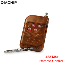 QIACHIP 433mhz kablosuz uzaktan kumanda öğrenme kodu RF verici için evrensel akıllı ev kapısı garaj elektrikli kapı anahtarlık