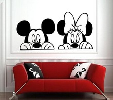 Mickey Minnie Mouse Wall stickers Baby Room Decor Nursery Decal Home Decoration
