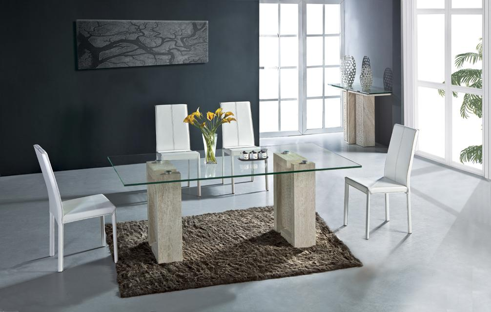 Travertine Dining Table Set Health High Quality Natural
