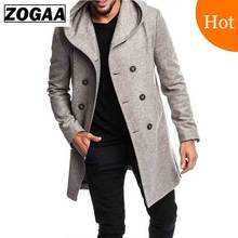 купить ZOGAA Mens Trench Coat Jacket Spring Autumn Mens Overcoats Casual Sobretudo MasculinoTrench Coat for Men Clothing Abrigo Hombre дешево