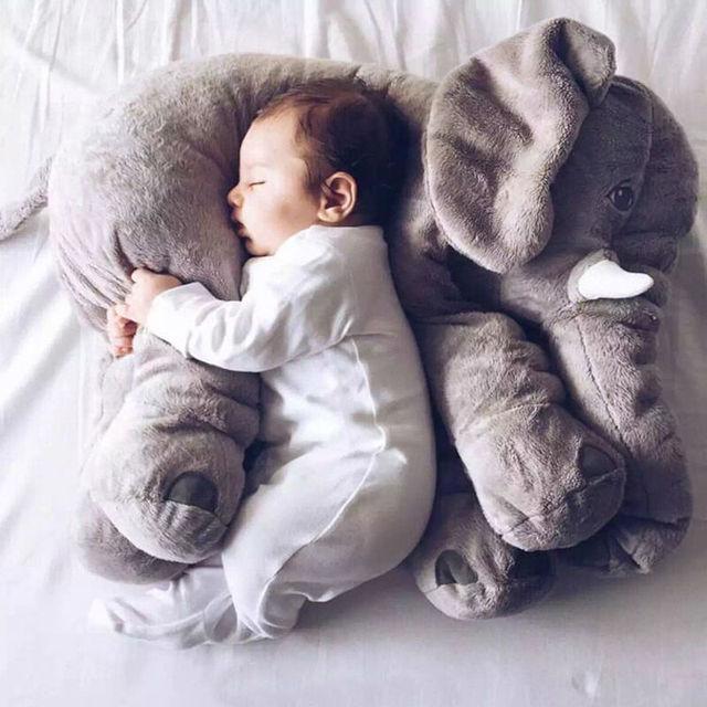 Elefante Macio Apaziguar Bebê Travesseiro Do Bebê Brinquedos do Bebê Boneca Calma Cama do Sono do bebê Almofada Do Assento de Carro Crianças Quarto Cama Portátil recheado