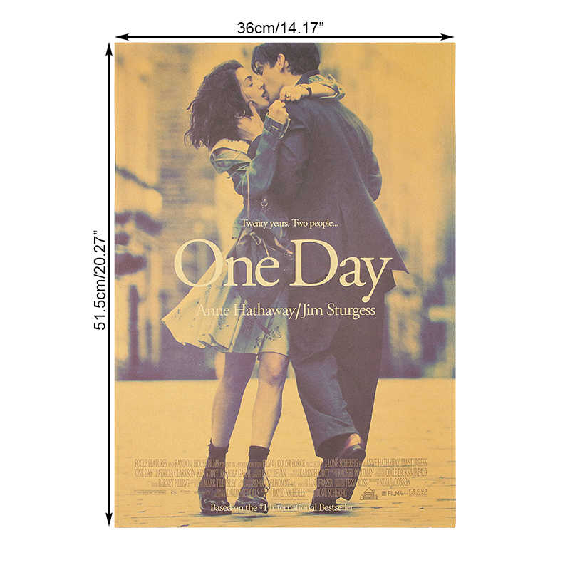 DLKKLB Movie Poster One Day Anime Poster Vintage Kraft Paper Bar Cafe Decoration Room Decoration Painting 51.5X36cm Wall Sticker