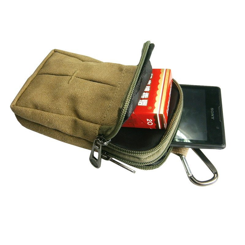 Canvas Waist Bag High quality Packs Mens Travel Bags Belt Bag Waist Pack  Belt Loops Phone Pouch Hip Purses Wallet e7dd6b876ae4
