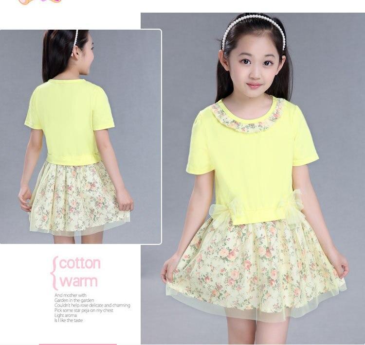 06ab31d41463 Kids Girls New Summer Princess Korean Floral Dress Clothing Mesh ...
