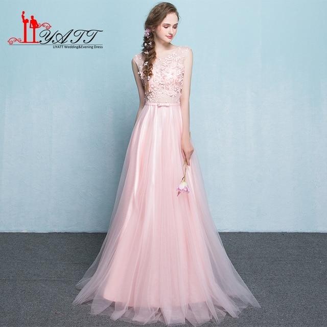 bc9daea6a0 Real Photo Baratos Lila Vestido de Dama de honor Con El Arco Sash Piso  longitud Vestido