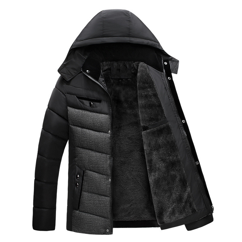 2017 Men Winter Parkas Hooded New Thick Fleece Warm Man Coats Male Thicken Thermal Jackets Cotton