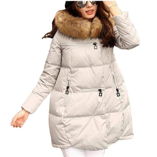 Mulheres casaco jaqueta de algodão acolchoado das mulheres de inverno de todos os coincidir com uma linha longa de algodão solto casaco feminino com capuz faux fur gola outerwear kl0487