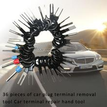 36Pcs Auto Car Plug Circuit Board Wire Harness Terminal Extraction Pick Connector Crimp Pin Back Needle Remove Tool