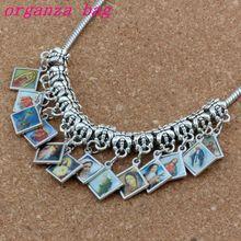 100pcs/lot Dangle Mixed Enamel square Jesus Christ Icon Cross Religious Charm Beads Fit European Bracelets Jewelry DIY 13.2x29mm