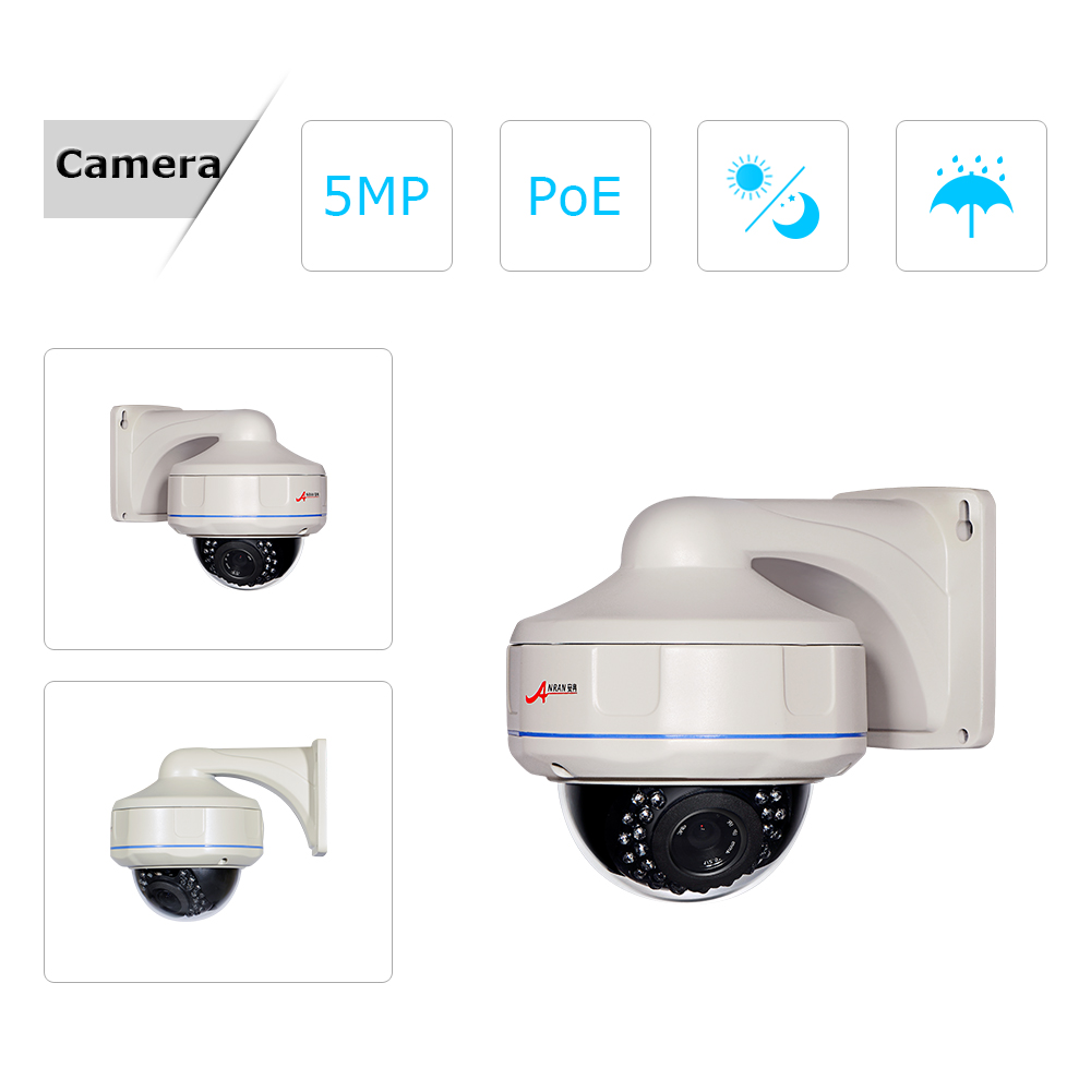 ANRAN 16CH NVR 5.0MP HD H.265 CCTV System Vandal-proof Dome Network IP Camera POE System Outdoor Security Surveillance Kit