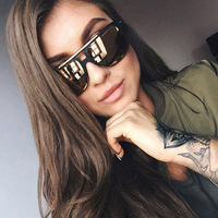 Newest Europe America Fashion Trend Women Men Oversized Sunglasses Brand Designer Hot Sale High Quality