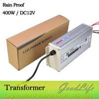 DC 12V 400W Rain Proof LED Power Supply Power Adapter Outdoor Use Lighting Transformer