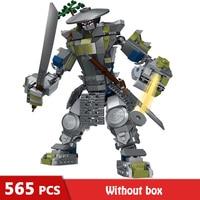 565Pcs Meche Series Oni Titan Warrior Robots Building Blocks Compatible Legoinglys Ninjagoed Set Bricks Toys for Children