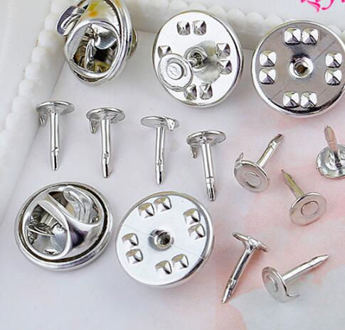 136cc6c0aba 10pcs METAL HAT PIN BACK lapel pins Butterfly Button Clasp brooch back  Clutch Lapel Scatter Pin Silver gold