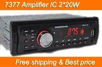 Car Radio Player MP3 FM/USB/1 Din/USB port 12V Car Audio Auto Stereo Car MP3 Free shipping 2*20W Hot sale EQ Effect Best price