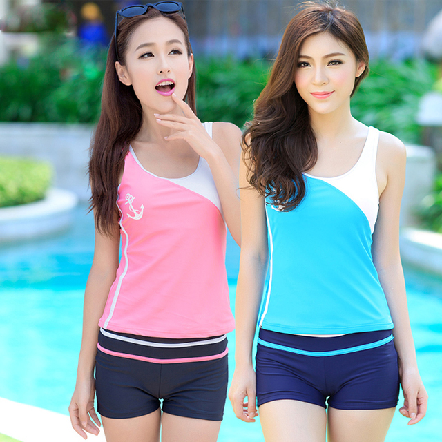 c0f9421506 Fashion women ladies girl students sexy swim swimming pool surfing bathing  spa springs beach shirt shorts suit swimsuit swimwear