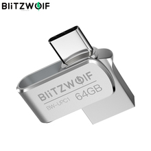 BlitzWolf BW UPC1 2 في 1 نوع C USB 3.0 سبائك الألومنيوم 16 جيجابايت 32 جيجابايت 64 جيجابايت OTG محرك فلاش USB التخزين الخارجي
