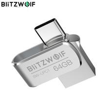 BlitzWolf-BW-UPC1 2 en 1 tipo C, USB 3,0, aleación de aluminio, 16GB 32GB 64GB, OTG unidad Flash de USB, almacenamiento externo