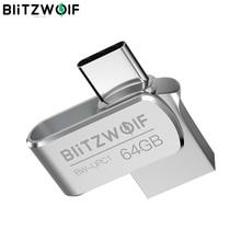 BlitzWolf BW UPC1 2 in 1 tip c USB 3.0 alüminyum alaşım 16GB 32GB 64GB OTG USB Flash sürücü harici depolama
